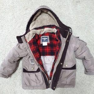 Oshkosh b 'gosh boy winter jacket size 5.